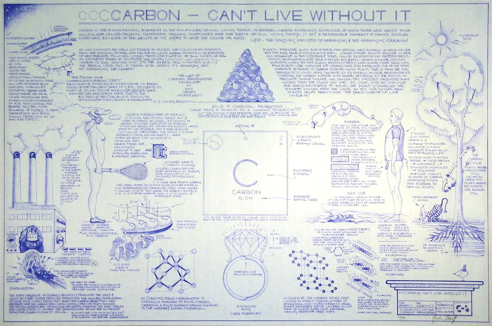 Drawings & Paintings - Blueprint Series - Carbon Cant Life Without It IMG 0137
