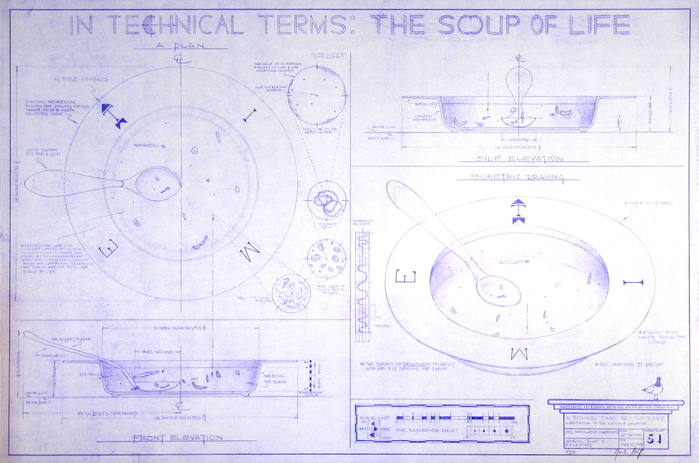 Drawings & Paintings - Blueprint Series - In Technical Terms The Soup Of Life IMG 0125