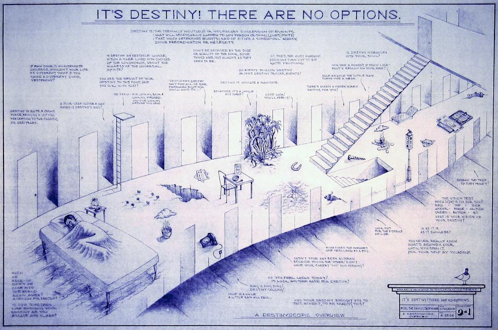 Drawings & Paintings - Blueprint Series - Its Destiny There Are No Options Blueprint15