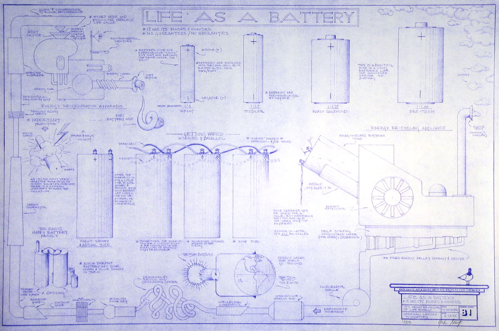 Drawings & Paintings - Blueprint Series - Life As A Battery IMG 0129