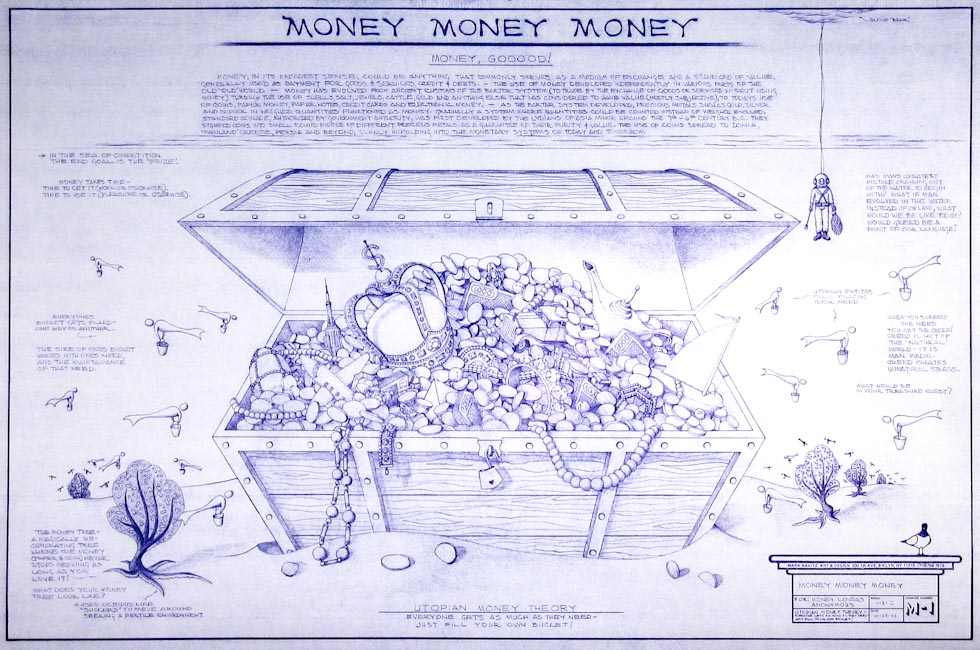 Drawings & Paintings - Blueprint Series - Money Money Money IMG 0152