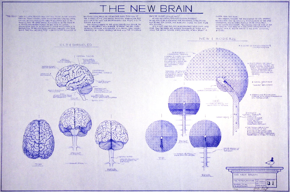 Drawings & Paintings - Blueprint Series - The New Brain IMG 0135