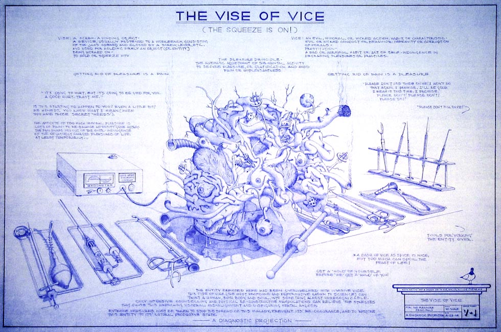 Drawings & Paintings - Blueprint Series - The Vice Of Vice Blueprint16