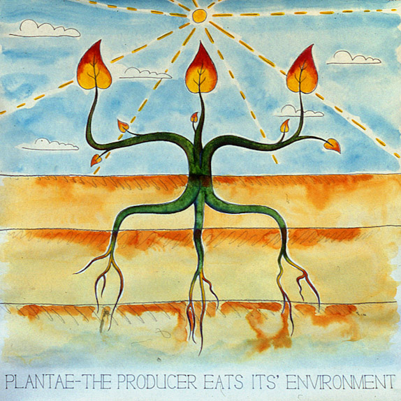 Drawings & Paintings - The Food Chain - 05 - Planate The Producer Eats Its Environment