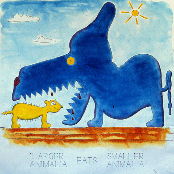 Drawings & Paintings - The Food Chain - 07 - Larger Animal Eats Smaller Animal