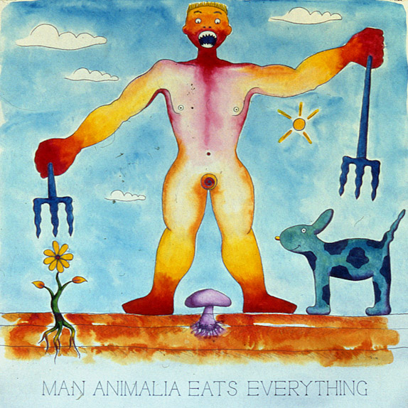 Drawings & Paintings - The Food Chain - 08 - Man Animal Eats Everything
