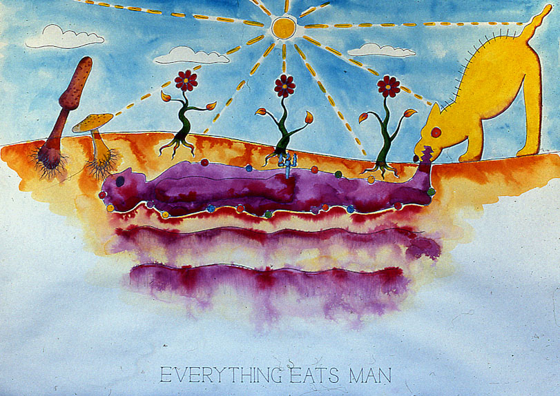 Drawings & Paintings - The Food Chain - 09 - Everything Eats Man
